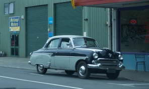 Classic Car outside Matangi Motors
